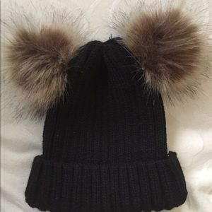 Other - Fur Pom Pom Winter Hat